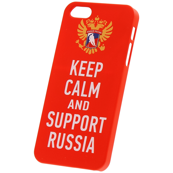 "Чехол ""KEEP CALM AND SUPPORT RUSSIA"" для iPhone 6+"