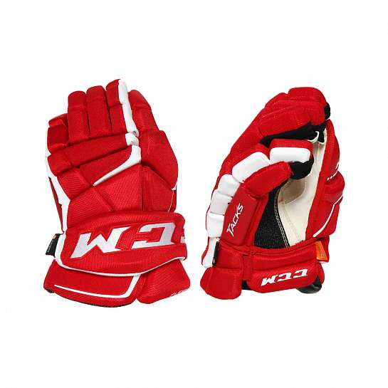 Перчатки игрока дет. HG9080 JR CCM TACKS Prot Gloves Red/White