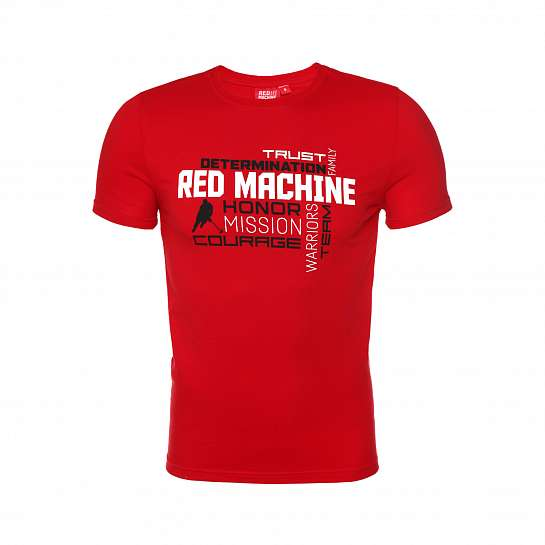 "Футболка мужская ""Red Machine. Determination"" красная арт. RM20004"
