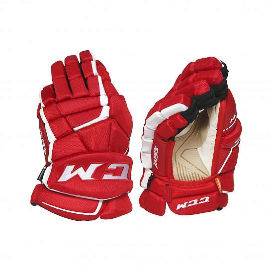 Перчатки игрока муж. HGAS1 SR CCM TACKS Prot Gloves Red/White