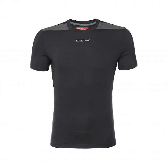 Футболка муж. T7926 PREMIUM TECH TEE BLACK HEATHER