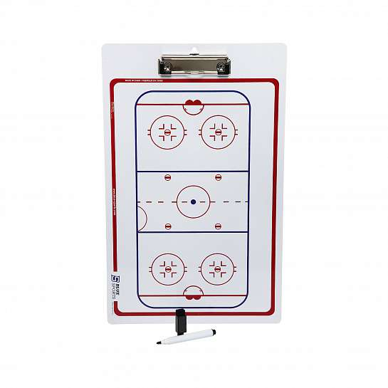 "Тактическая доска Blue Sports HOCKEY BOARD W/SUCTION CUPS 16""X24"""
