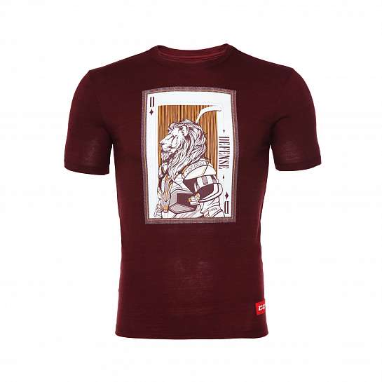 Футболка муж.T4847 CCM PLAYING CARD TEE Acai