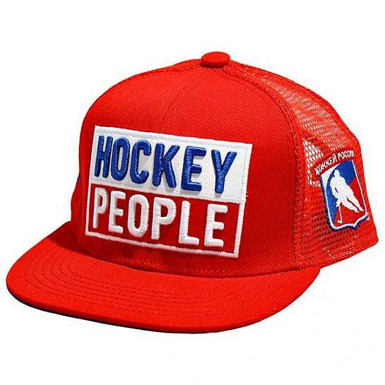 "Бейсболка ""Hockey People"" красная"