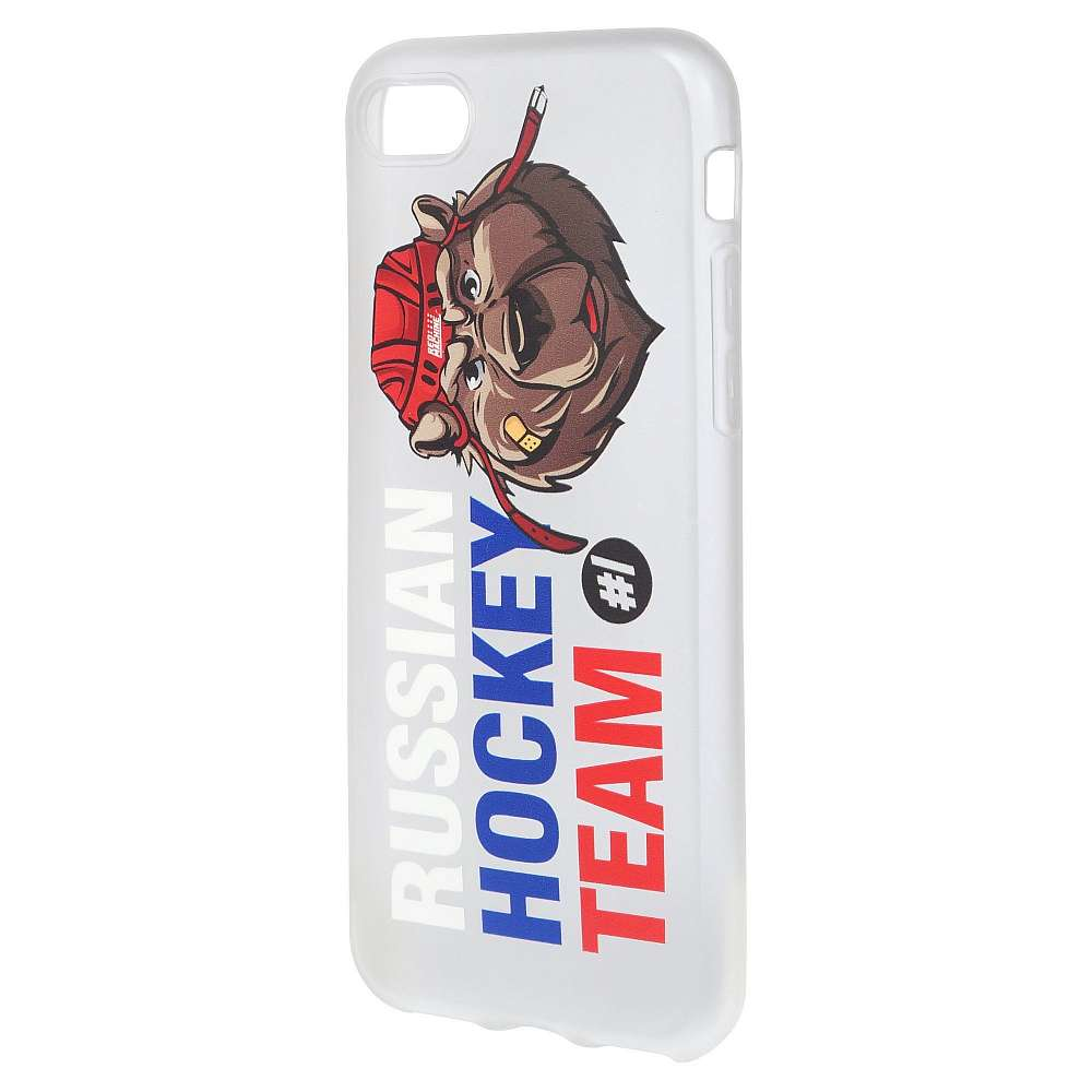 "Чехол на iphone 7 медведь ""Russia Hockey Team"", силикон"