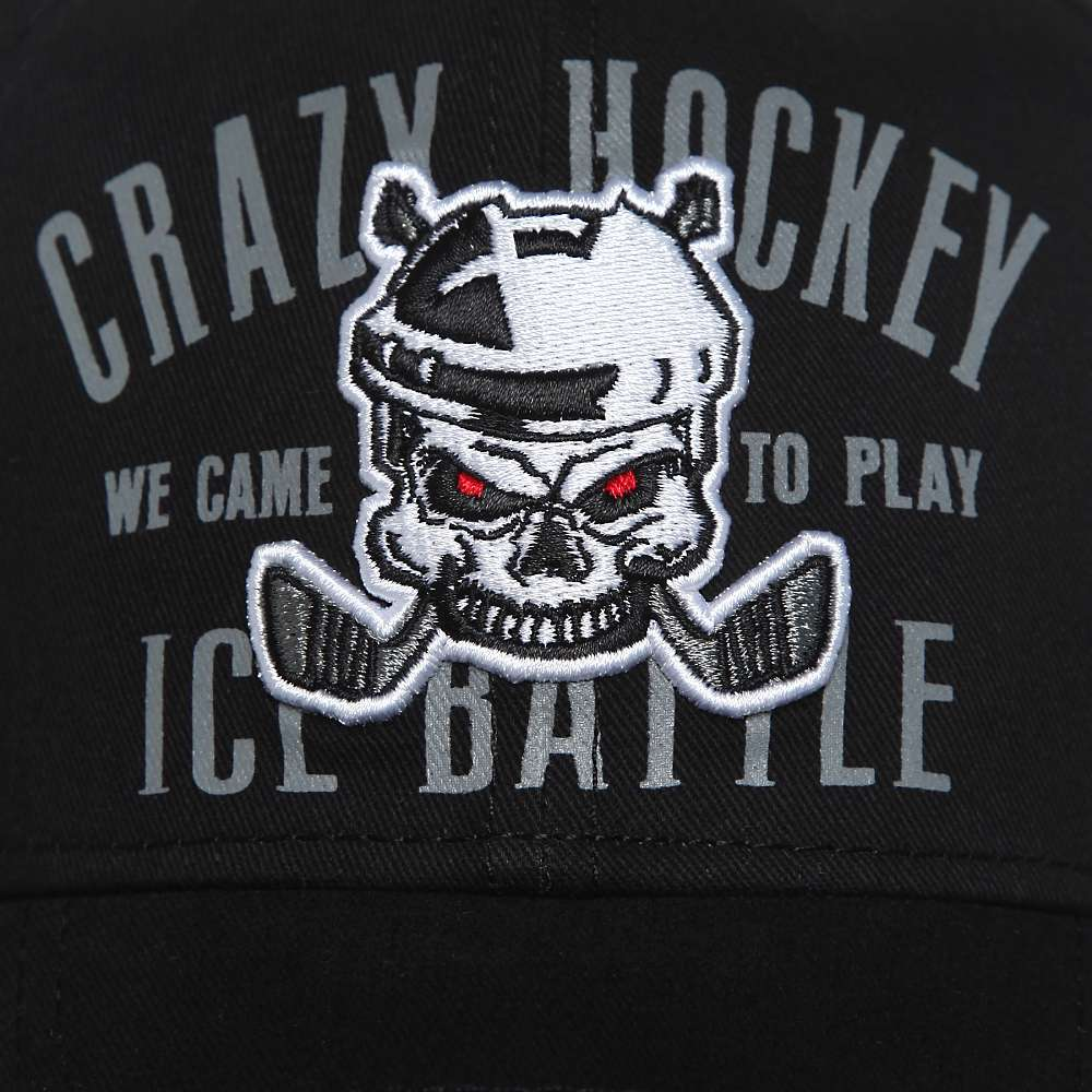 Бейсболка Crazy Hockey, черн., 55-58