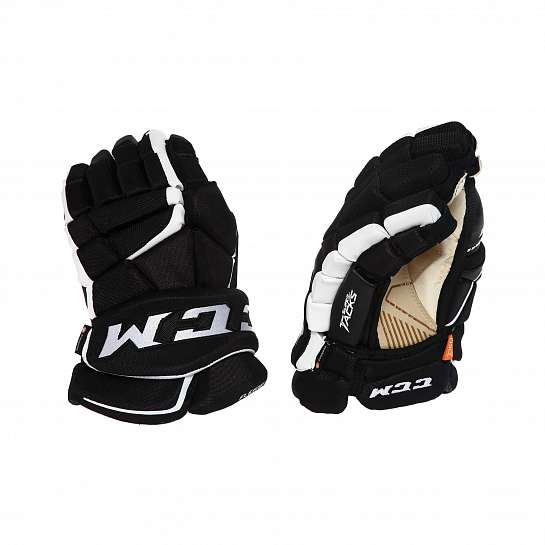 Перчатки игрока муж. HGAS1 SR CCM TACKS Prot Gloves Black/White